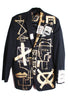 Jody MORLOCK '100 DOLLAR BILL' Painted Men's Jacket - IMMEDIATE DELIVERY SIZE S