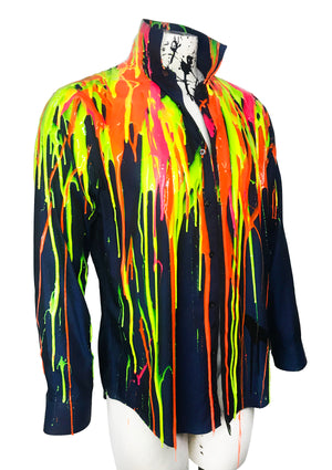 EDM Drip Button Down Shirt