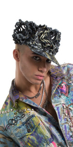 Leather Couture Cap