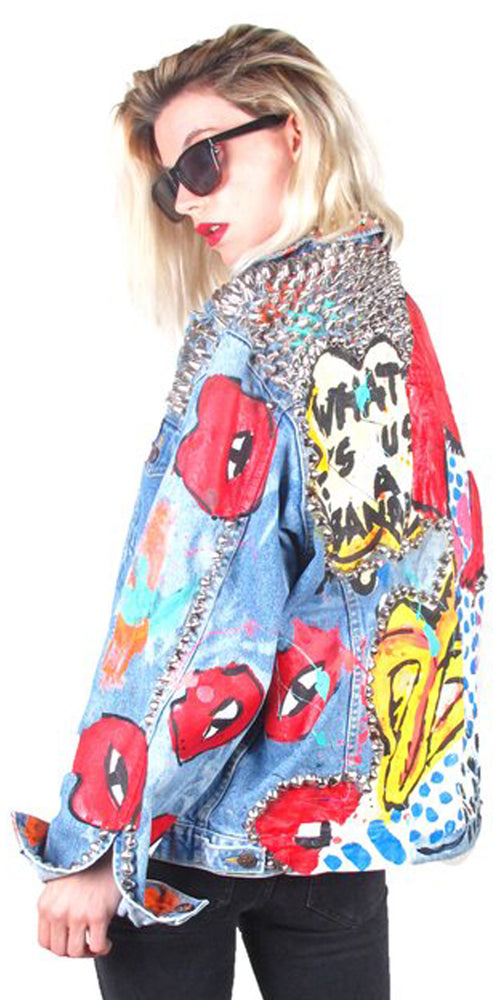 BANANA GIRL Denim Jacket by THESEPINKLIPS X StudMuffin NYC