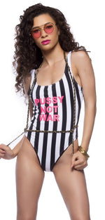 Pussy Not War Swimsuit