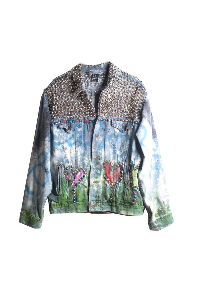 Scooter LaForge X STUDMUFFIN 'Bambi' Denim Jacket - AVAILABLE FOR IMMEDIATE DELIVERY SIZE XL