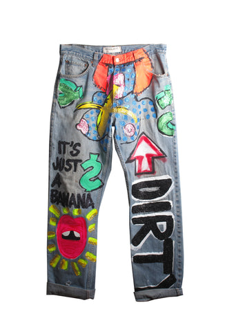 Iris Bonner THESEPINKLIPS 'It's Just a Banana' Jeans