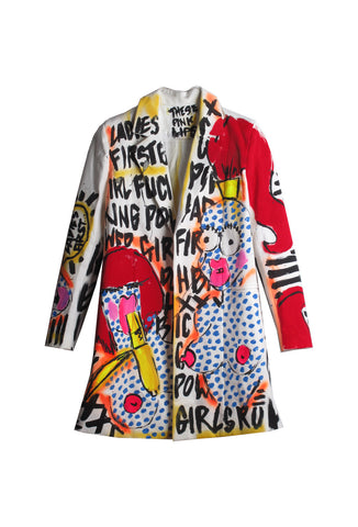 Iris Bonner THESEPINKLIPS Banana Girl Blazer- AVAILABLE FOR IMMEDIATE SHIPPING SIZE M