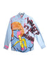 Iris Bonner THESEPINKLIPS Banana Girl Denim Shirt- AVAILABLE FOR IMMEDIATE DELIVERY SIZE MENS L