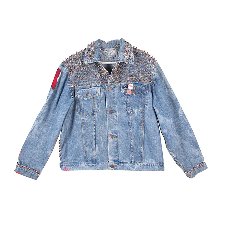 THESEPINKLIPS X STUDMUFFIN 'BANANA GIRL' Denim Jacket