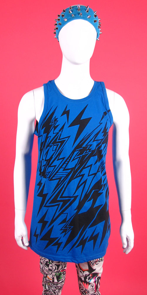 BLUE LIGHTNING BOLT TANK