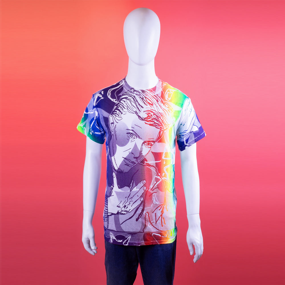 David Bowie Rainbow Ombre Tee