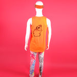ORANGE LIGHTNING BOLT TANK