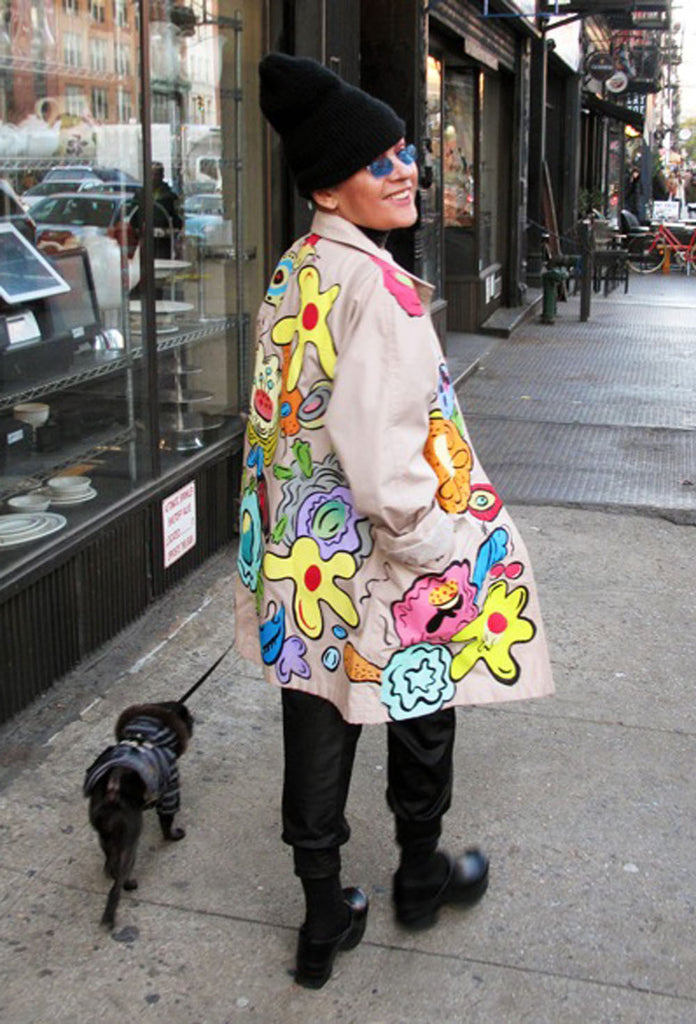 SUZAN PITT 'BIG FLOWERS' Coat