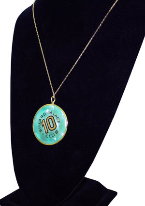 Vintage Casino Chip Pendent Necklace