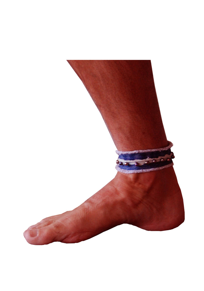 Black Pearl Ankle Cuff- AVAILABLE FOR IMMEDIATE DELIVERY