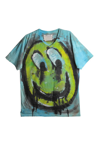 Scooter LaForge 'BLUE HAPPY FACE' Tee