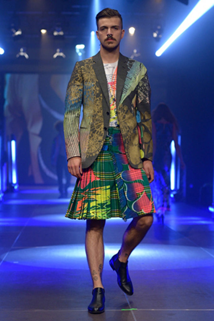 Ben Copperwheat 'EAST END BOY' KILT One of A Kind - IMMEDIATE DELIVERY SIZE 32