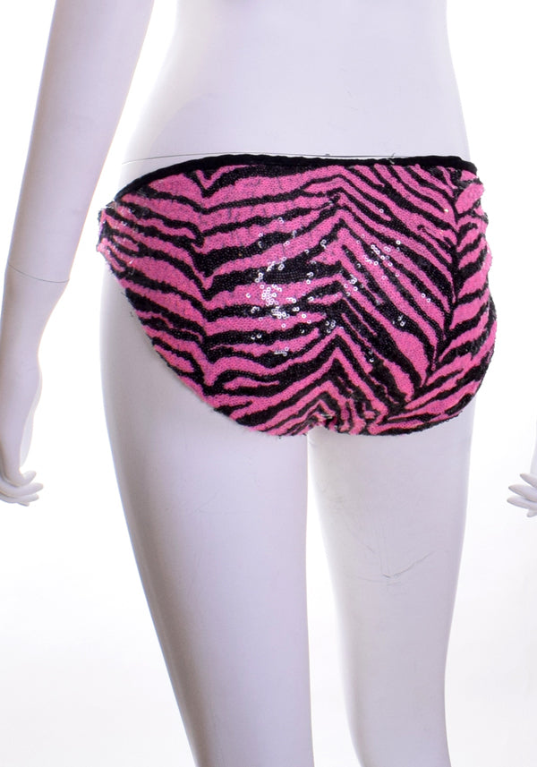Sequin Zebra Brief