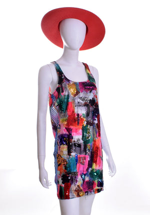 Flying Color Tank Dress