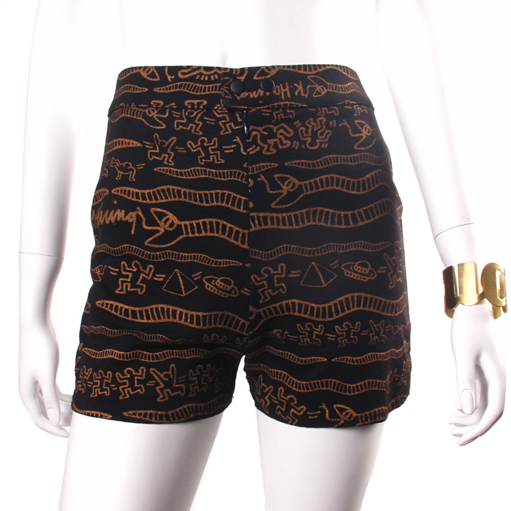 Keith Haring Custom 'EGYPTIAN' High Wasted Booty Shorts