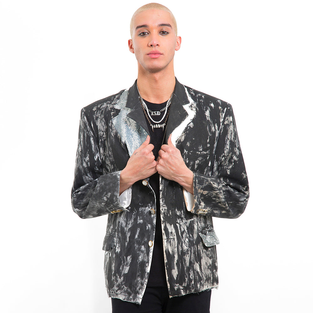 Hand Painted Bling Boyfriend Blazer