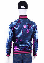 2 Tone Sequin Baseball Jacket