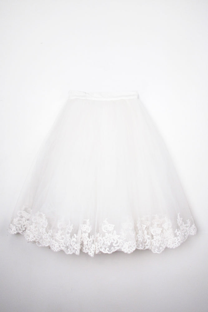Tulle Skirt with Lace Trim - IMMEDIATE DELIVERY SIZE S