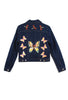 Suzanne Mallouk ONE OF A KIND Denim Jacket with Applique - AVAILABLE FOR IMMEDIATE DELIVERY SIZE M