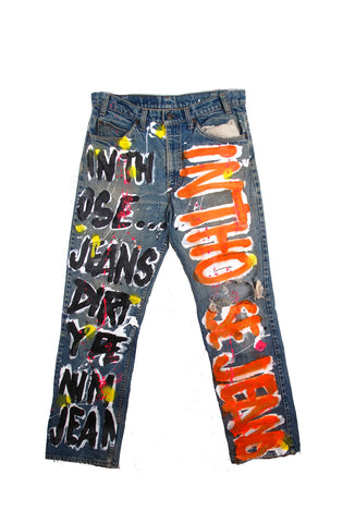 Iris Bonner THESEPINKLIPS 'Dirty' Jeans - AVAILABLE FOR IMMEDIATE DELIVERY SIZE 32