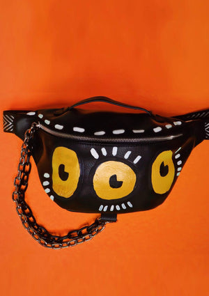 Three Eyed Monster Fanny Pack w/ Chains