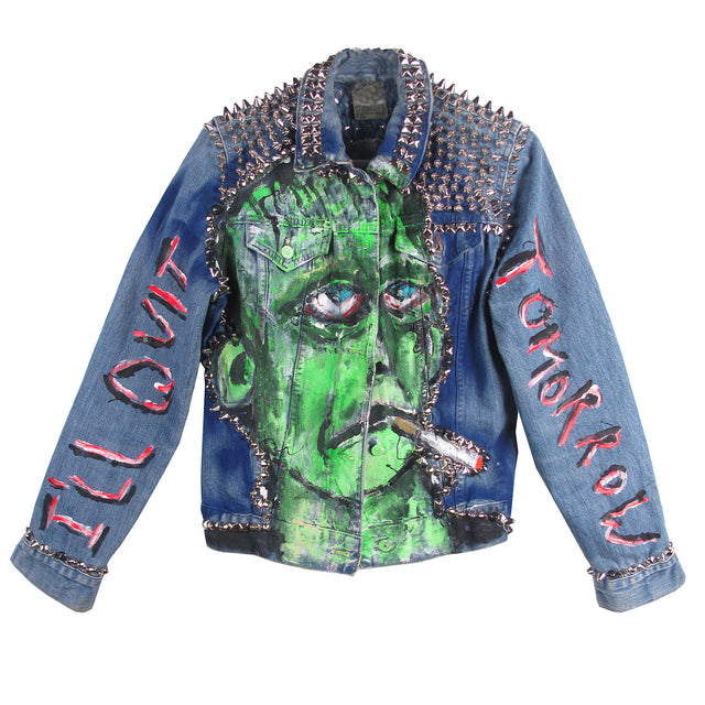 Scooter LaForge X STUDMUFFIN NYC 'I'LL QUIT TOMORROW' DENIM JACKET