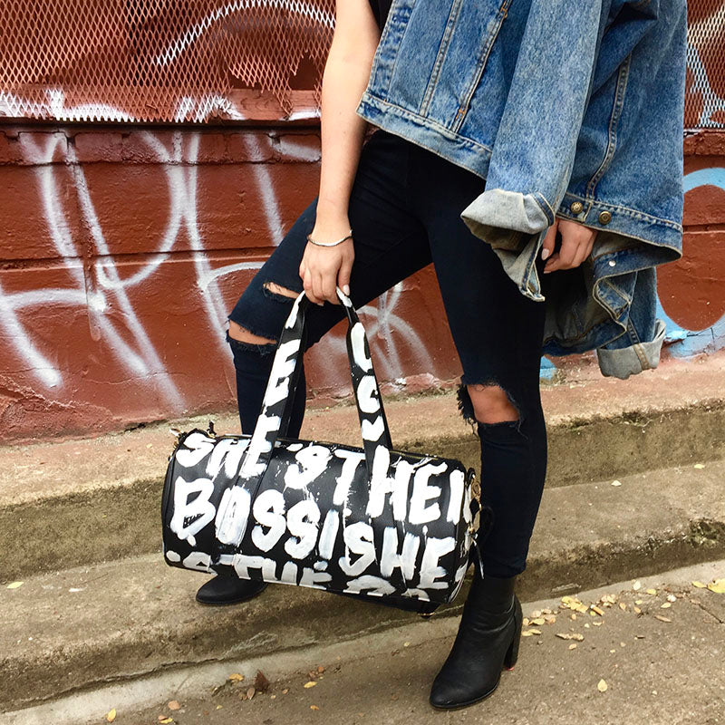 SHE'S THE BOSS Duffel Bag