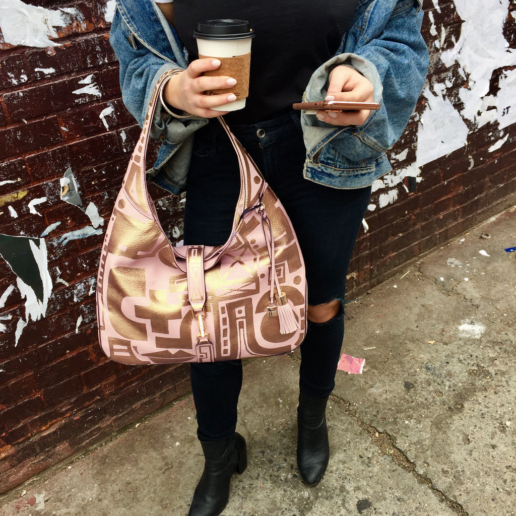 Blushing Leather Hobo