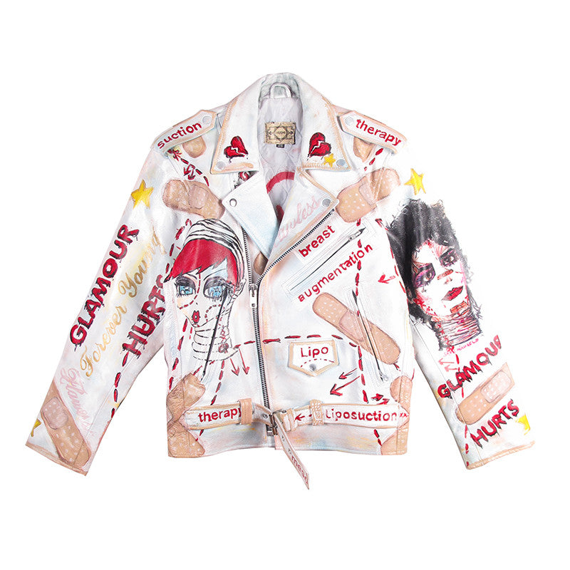 Glamour Hurts Leather MC Jacket