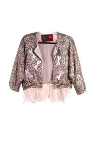 Suzanne Mallouk ONE OF A KIND Gold Sequin Jacket - AVAILABLE FOR IMMEDIATE DELIVERY SIZE M