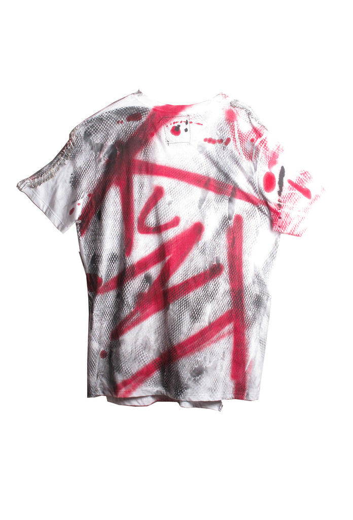 SSIK ONE OF A KIND Graffiti Double Tee Shirt - IMMEDIATE DELIVERY SIZE L