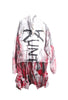 SSIK ONE OF A KIND Graffiti Hoodie Tee Shirt Dress- IMMEDIATE DELIVERY SIZE L