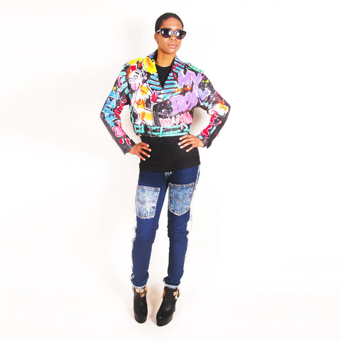Iris Bonner THESEPINKLIPS I'm a Free Bitch Baby Leather MC Jacket - AVAILABLE FOR IMMEDIATE DELIVERY SIZE S