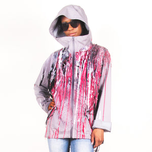 SSIK ONE OF A KIND Silicon Drip Hoodie with Fishnet- AVAILABLE FOR  IMMEDIATE DELIVERY SIZE M