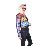 THESEPINKLIPS X STUDMUFFIN 'BOSS BITCH' Leather Tuxedo Jacket