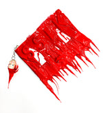 White x Red Drip Doll Clutch