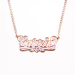 14K Gold 'Shadow Box' Two-Tone Custom Nameplate