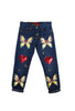 Suzanne Mallouk ONE OF A KIND Jeans with Applique - AVAILABLE FOR IMMEDIATE DELIVERY SIZE S
