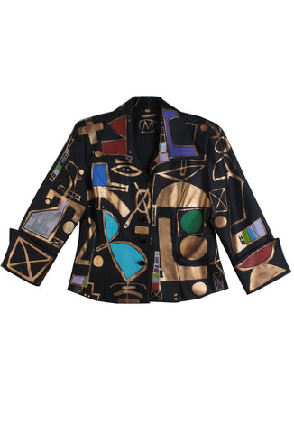 Jody MORLOCK Hand Painted 'CARNIVAL' Women's Blazer IMMEDIATE DELIVERY SIZE L