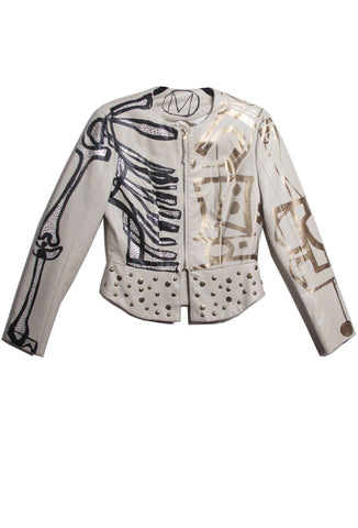 'Jody MORLOCK' Hand Painted Skeleton Jacket - IMMEDIATE DELIVERY SIZE M