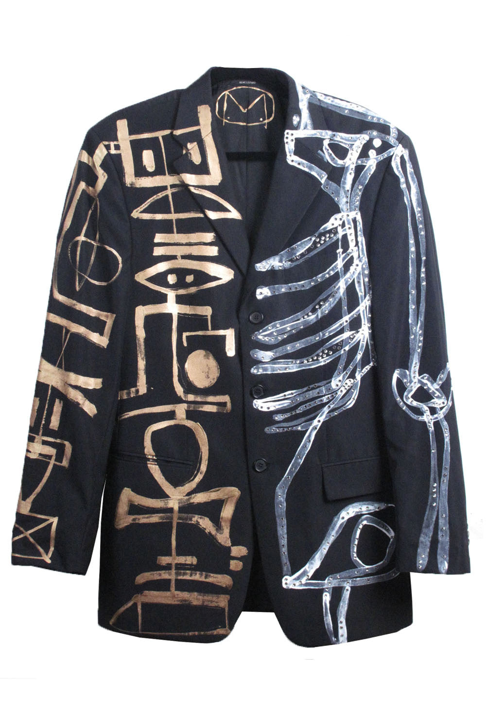 Jody MORLOCK 'HALF SKELETON' Painted Men's Suit - IMMEDIATE DELIVERY SIZE US 38 Euro 48