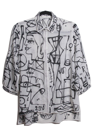 Jody MORLOCK Painted Blouse - IMMEDIATE DELIVERY SIZE L/XL