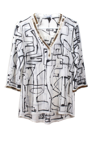 Jody MORLOCK Painted Tunic - IMMEDIATE DELIVERY SIZE M