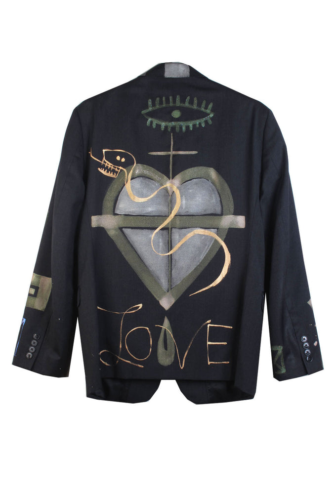 Jody MORLOCK 'LOVE' Painted Men's Jacket- IMMEDIATE DELIVERY SIZE 38