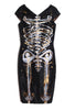 'Jody MORLOCK' Hand Painted Skeleton Dress - IMMEDIATE DELIVERY SIZE 2