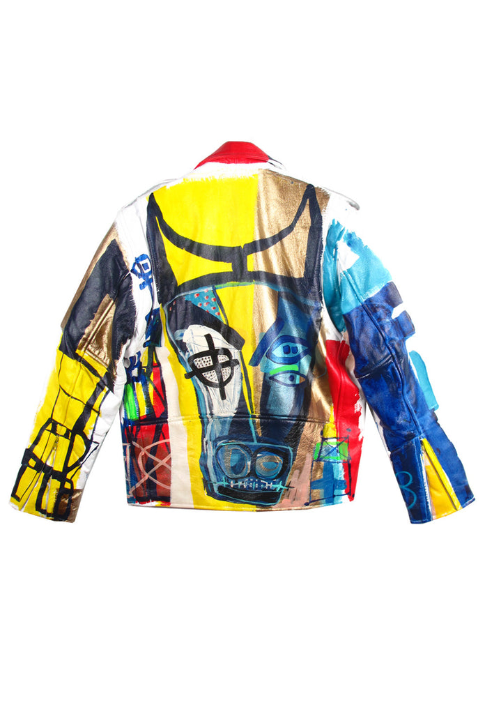 'Jody MORLOCK' Hand Painted 'BULL'  Leather MC Jacket - AVAILABLE FOR IMMEDIATE DELIVERY SIZE 38