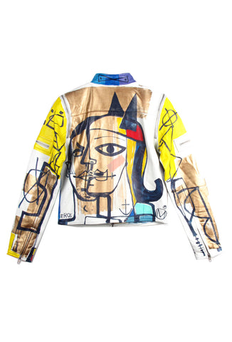 "'Jody MORLOCK' Hand Painted ""EROS' Ladies Leather Jacket - AVAILABLE FOR IMMEDIATE DELIVERY SIZE S"