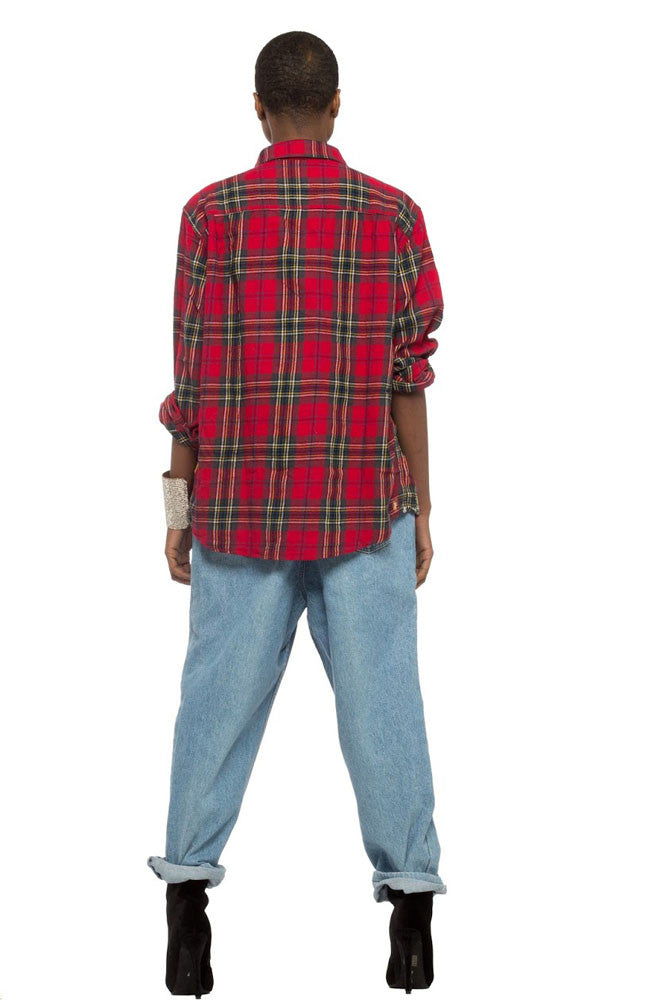 Iris Bonner THESEPINKLIPS Girl Power Marge Flannel- AVAILABLE FOR IMMEDIATE DELIVERY SIZE MENS L